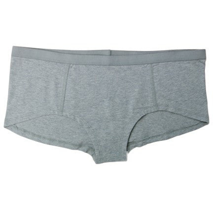 Etiko - Women's fair trade short briefs (grey) - Vegan Style