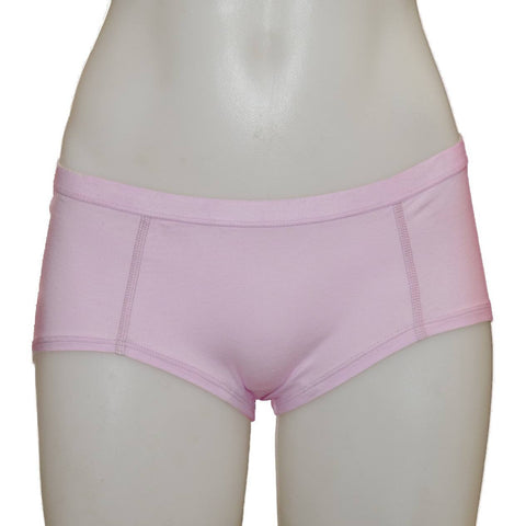 Women's Fair Trade Short Briefs (Pink) by Etiko - Vegan Style