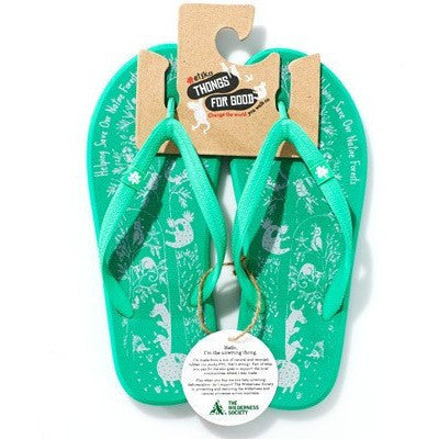 Etiko - thongs/flip flops (green) - Wilderness Society