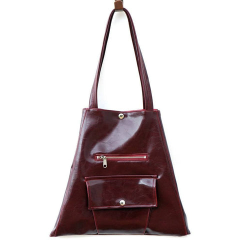 Crystalyn Kae - Metier Square Shopper, vegan bags (Burgundy) - Vegan Style