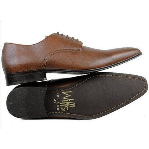 Will's London - vegan slim-sole smart shoes - oxfords - (chestnut) - Vegan Style