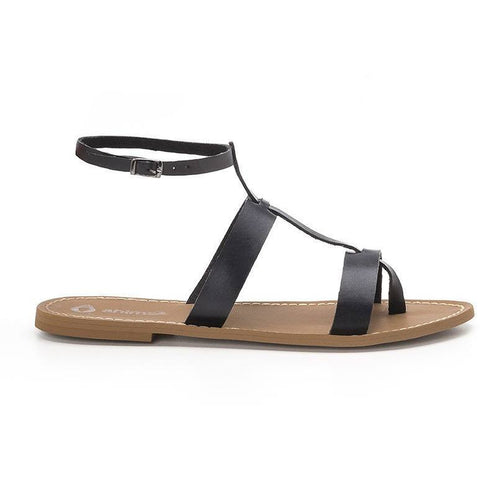 Ahimsa Shoes - vegan sandals 'Cravo' (black)
