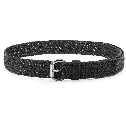 Ahimsa - braided vegan belt - black