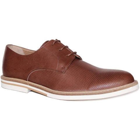 FAIR Shoes - vegan men's oxford (tan/white sole)
