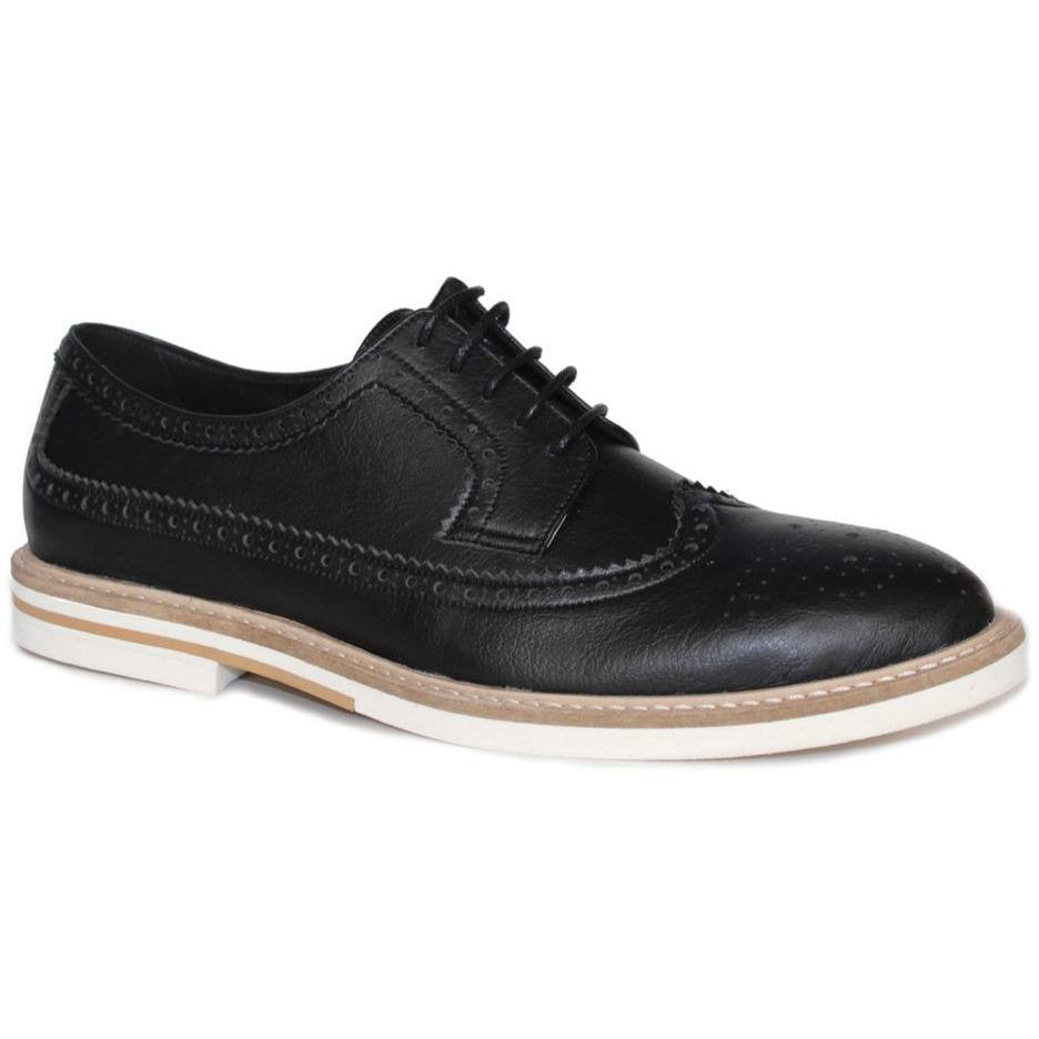 FAIR Shoes - vegan men's brogue (black/white sole)
