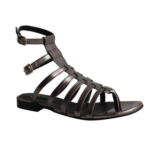 FAIR Shoes - Vegan Women's Chumbo Gladiator Sandal (Metal) - Vegan Style
