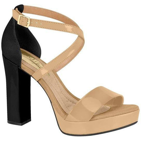Vizzano - vegan-friendly women's heels - black/beige