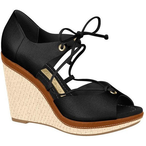 Vizzano - vegan-friendly women's wedge - black/tan/bone