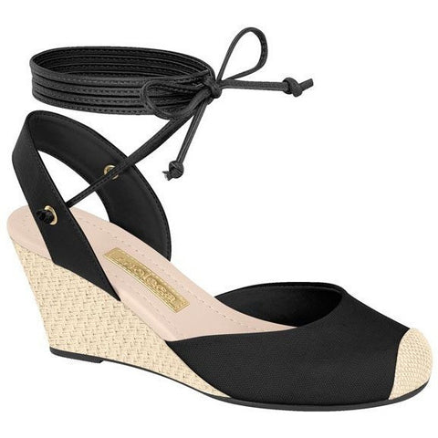 Vizzano - vegan-friendly women's wedge - black/bone