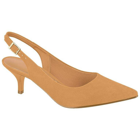 Vizzano - vegan-friendly women's sling-back heels - tan