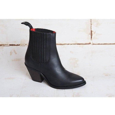 Good Guys vegan boots - daisy - black