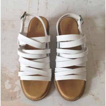 Good Guys don't Wear Leather - vegan sandals - 'Jia' (white) - Vegan Style