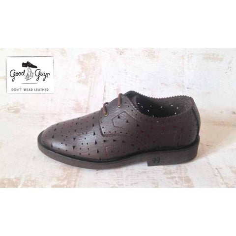Good Guys don't Wear Leather - vegan oxfords - 'Holly' (brown) - Vegan Style
