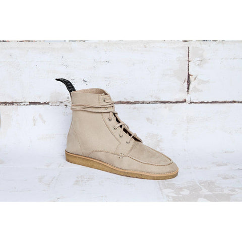 'Walt' Hi-Top (Bone/Suede) Vegan Boots by Good Guys Don't Wear Leather - Vegan Style