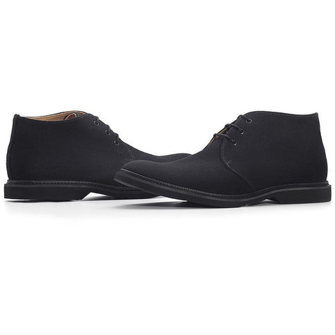 Ahimsa Shoes - Vegan Derby Chukka (Black) - Vegan Style