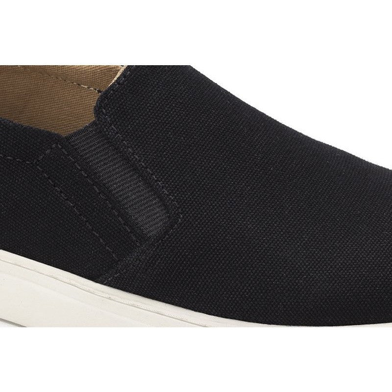 Ahimsa Shoes - Vegan Slip On Shoes (Black) - Vegan Style
