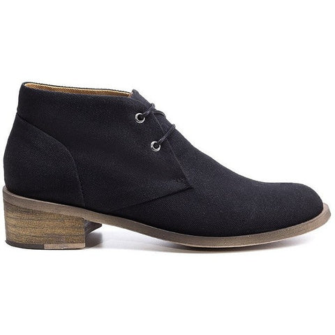 Ahimsa Shoes - vegan heeled desert boot (black)