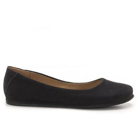 "Ahimsa Shoes - Vegan ""Lotus"" Ballet Flats (Black)"