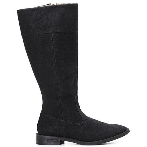 Ahimsa Shoes - vegan knee-high boot (black)