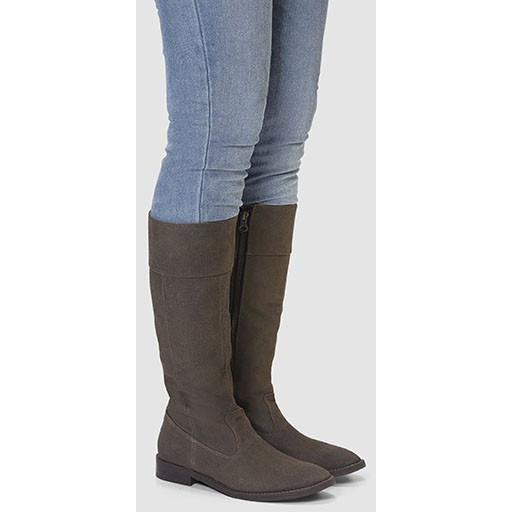 Ahimsa Shoes - Vegan Knee-High Boot (Espresso) - Vegan Style