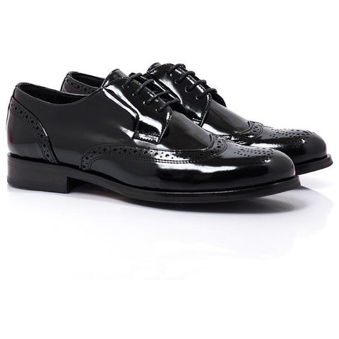 Bourgeois Boheme - vegan oxfords - Owen (high-shine black) - Vegan Style