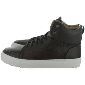 Novacas - vegan sneakers high tops - 'Booker' (brown)