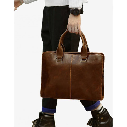 Tokyo Bags - Signature Briefcase  (brown) - Vegan Style
