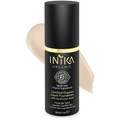 Inika Certified Organic Liquid Mineral Foundation - Porcelain