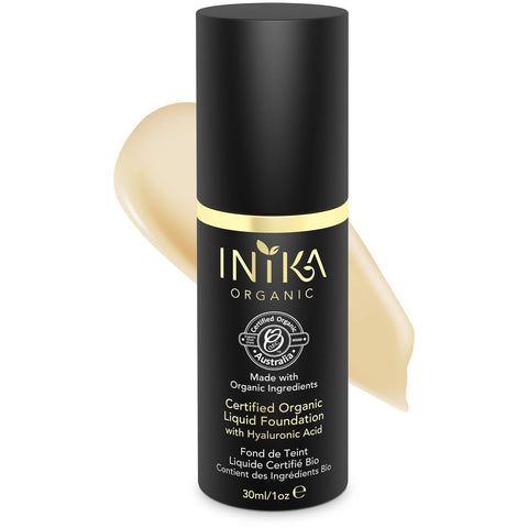 Inika Certified Organic Liquid Mineral Foundation - Cream - Vegan Style
