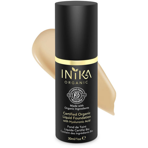 Inika Certified Organic Liquid Mineral Foundation - Honey - Vegan Style