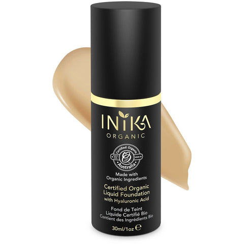 Inika Certified Organic Liquid Mineral Foundation - Tan - Vegan Style