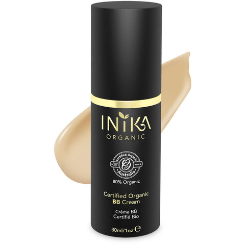 Inika Certified Organic BB Cream Foundation - Honey