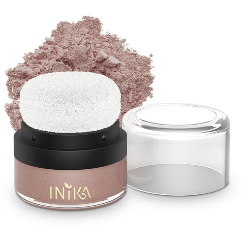 Mineral Blush Puff Pot (Pink Petal) by Inika - Vegan Style