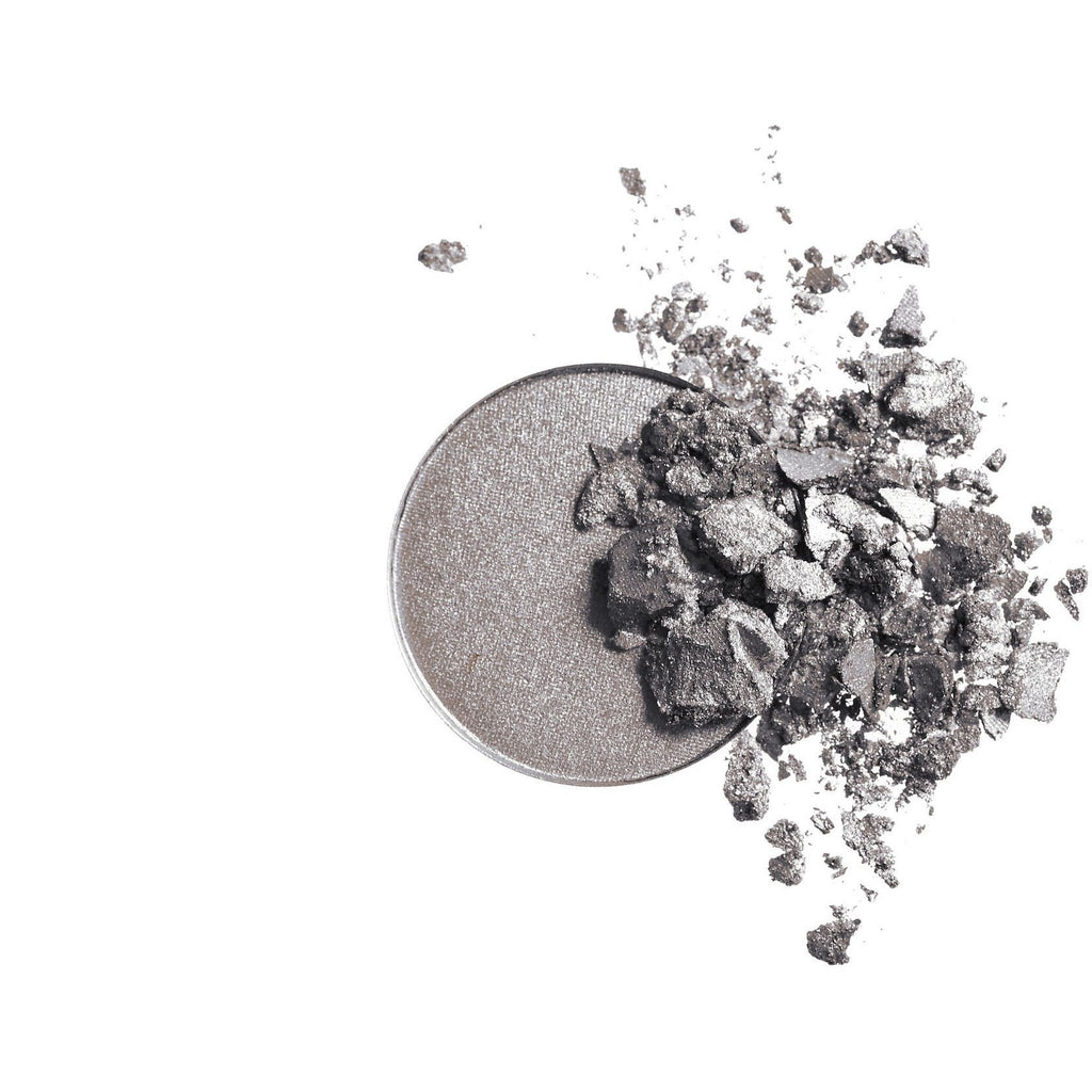 Inika Pressed Mineral Eye Shadow Duo - Platinum Steel