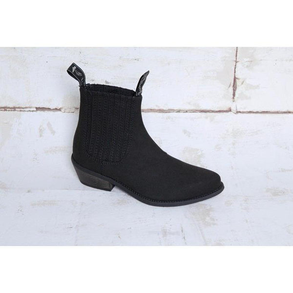 Good Guys vegan suede boots - 'Duke' black