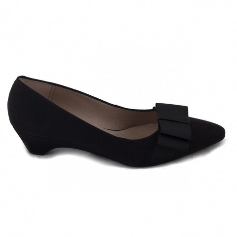 'Valentina' women's vegan Low-Heel slip-on by NAE - Black
