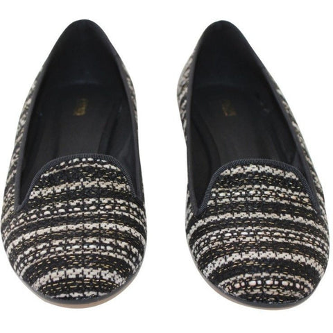 FAIR Shoes - vegan women's slipper (black/white)