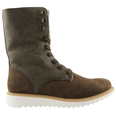 FAIR Shoes - vegan women's lace-up boot (brown) - Vegan Style