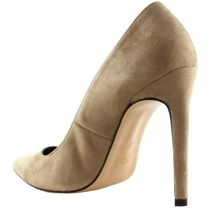 FAIR Shoes - vegan women's faux-suede high heels (beige) - Vegan Style
