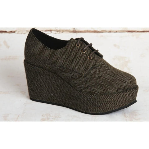 Good Guys 'Poni' vegan wedge shoes - khaki