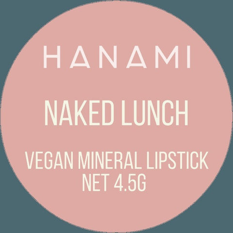 Hanami Cosmetics - Lipstick - Naked lunch - Vegan Style