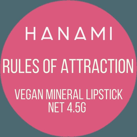 Hanami Cosmetics - Lipstick - Rules of Attraction - Vegan Style