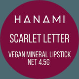 'Scarlet Letter' Lipstick by Hanami Cosmetics - Vegan Style