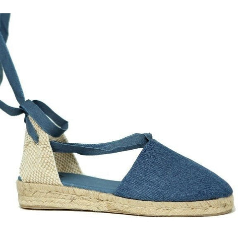 Zapas - Lace Up Espadrilles (Denim) - Vegan Style