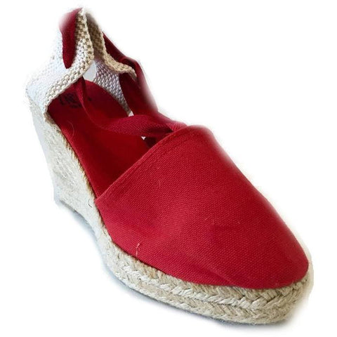 Zapas - Lace Up Espadrilles (Red) - Vegan Style