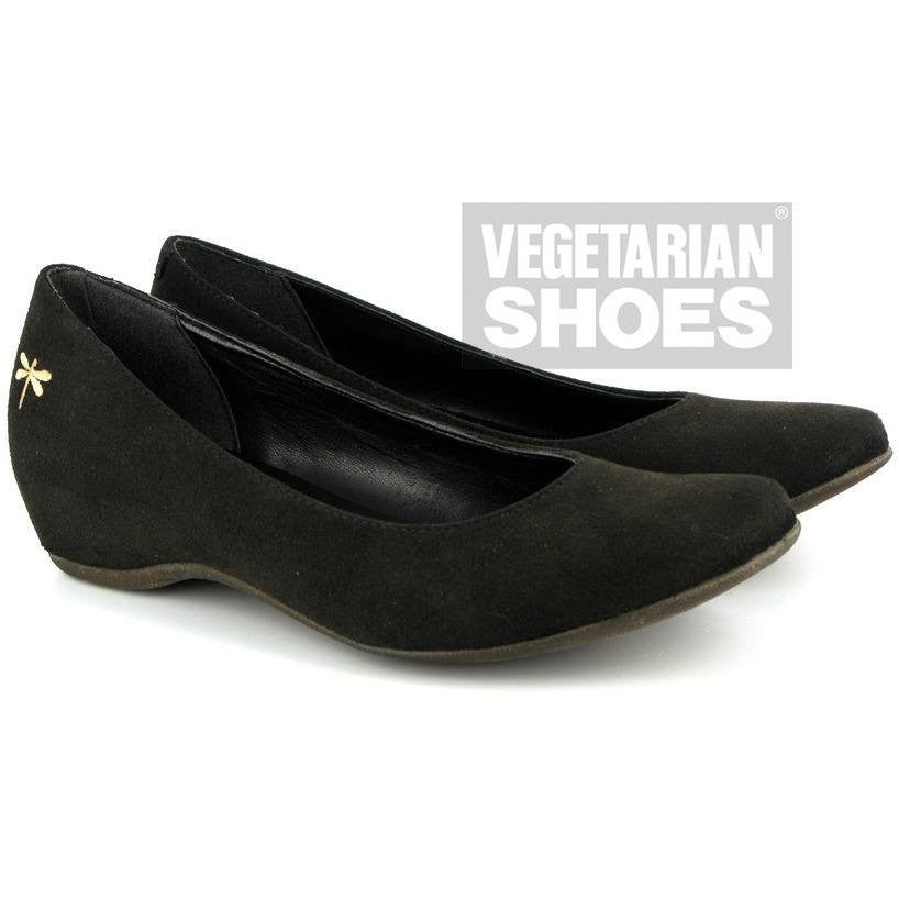 Vegetarian Shoes - 'Dragonfly shoe' vegan flats (black) - Vegan Style