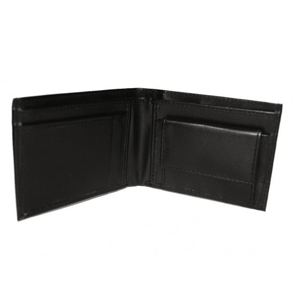 'Jeffrey' Bi-Fold Vegan Wallet (Black) by The Vegan Collection - Vegan Style