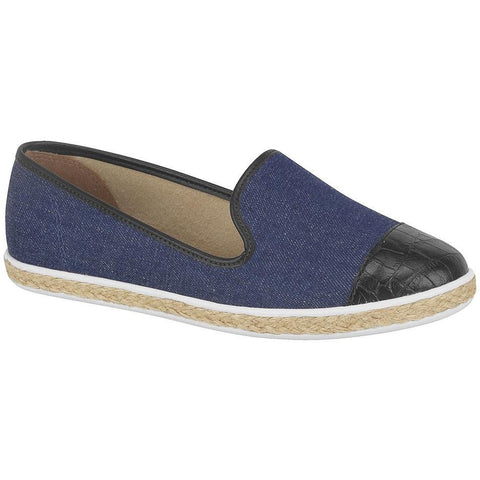 Vizzano - denim and faux-leather vegan slipper in blue and black