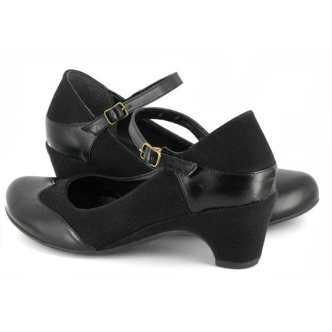 Vegetarian Shoes - 'Babette' vegan kitten heels (black)