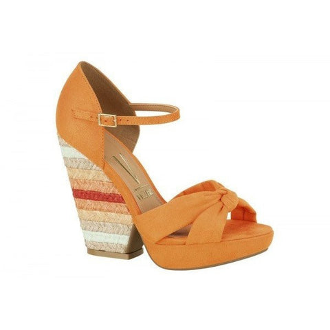 Orange-heeled sandal